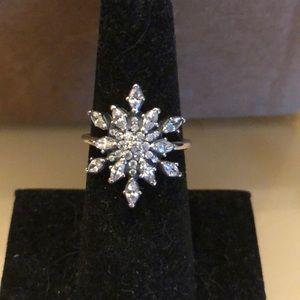 Jewelry - White topaz silver ring- restocked